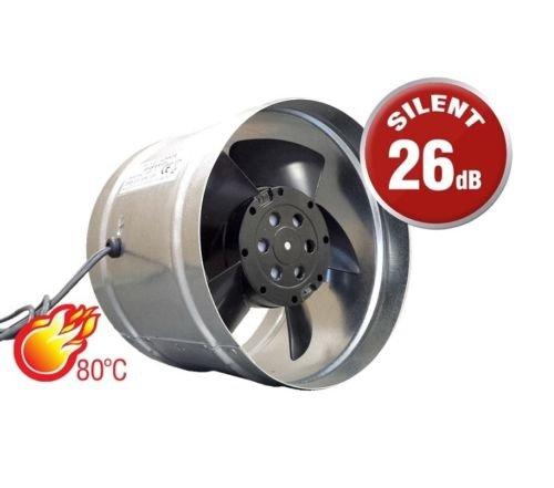 Metall Inline Abluftventilator Größe 125mm Kamin Luftführung Ventilator Commercial Industrie Küche Herd Duct Kamin Liner Auspuff Rauch-Fan wishper125 (Air Lüfter Duct)