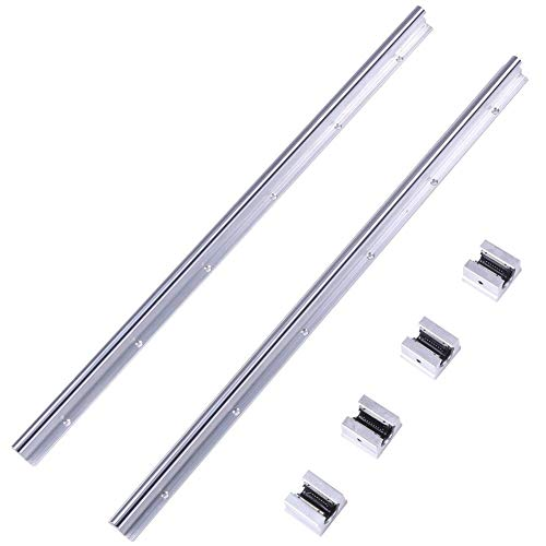 Linearlager Slide Set, 2 Stück SBR12-600mm Linearlagerschiene mit 4 Stück SBR12UU Slide Block - Dynamische Schienen