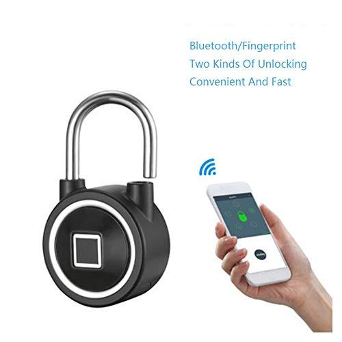 Gepäck-türschloss (Covan_CN Bluetooth Smart Fingerprint Lock, USB wiederaufladbar und Lange Laufzeit, wasserdichte App/Fingerprint/Passwort Entriegeln Sie Einbrecher mit Vorhängeschloss Gepäck Türschließfach)