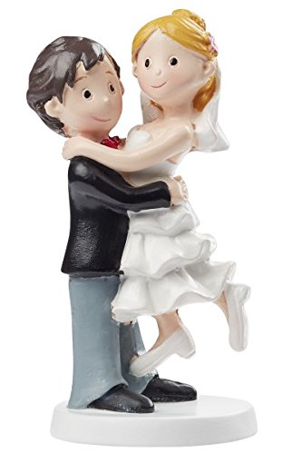 Hobbyfun Wedding Couple Decorative Figure Bridegroom decoration for Boyfriend Cakes Bride 10 cm