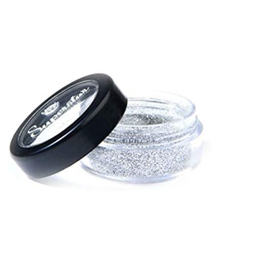 Superstar Biodegradable loser Chunky Glitter - Silber (6 ml), Cosmetic Grade, Ecofriendly Glitter für Gesicht, Körper, Haar