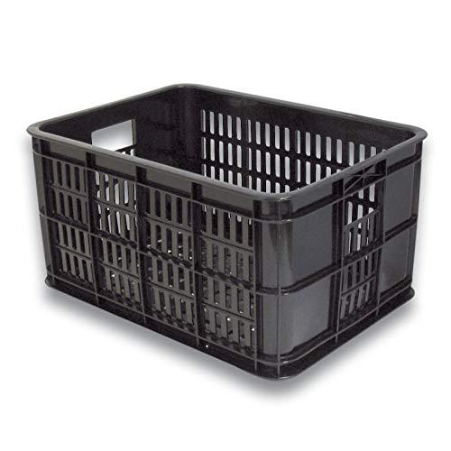 Basil Unisex- Erwachsene Crate S Fahrradkiste für den Vorderradgepäckträger, Black, 40 cm x 29 cm x 21 cm
