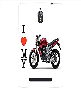 ColourCraft Bike Back Case Cover for OPPO FIND 7