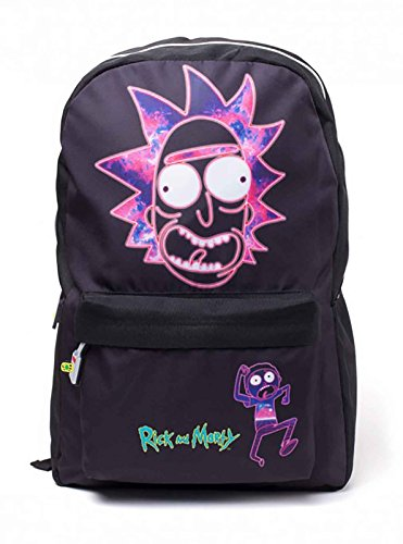 RICK AND MORTY BP183874RMT - Rick's Neon Face Print Backpack, Black (BP183874RMT) Face Kids Sweatshirt