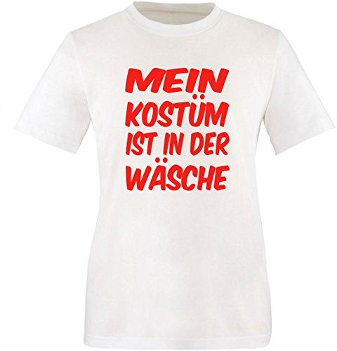 Luckja Mein Kostüm ist in der Wäsche Herren Rundhals T-Shirt Weiß/Rot