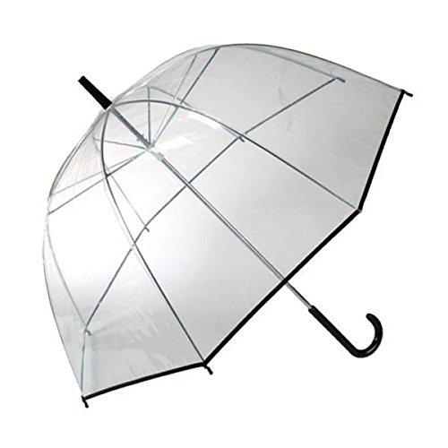 Vi.yo Art- und Weisepilz Regenschirm schöner langer Handgriff-transparenter Luftblasen Regenschirm wasserdichter windundurchlässiger halbautomatischer Regenschirm-leichtes leichtes Tragen