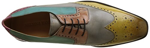 Melvin & Hamilton Jeff 14, Chaussures Lacées Homme Multicolore (Cedro Morning Grey Pale Rose Sweet Water Fuxia)