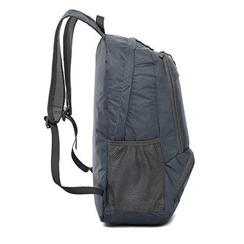 BXT Außenschultertasche Nylon Wasserdicht Rucksack Travel faltbare Rucksack Braun