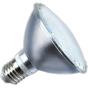Luxvista 12W Par30 E27 Impermeable Foco Lámpara Bombilla Proyector LED Spot (Luz Cálida, 1080