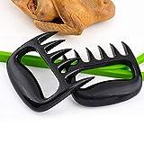 Barbecue forchetta orso artiglio separatore carne cucina cibo forchetta affettatrice carne - nero