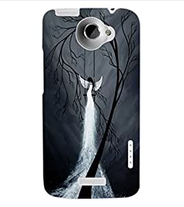 ColourCraft The Dark Angel Design Back Case Cover for HTC ONE X