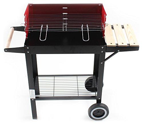 Telehit Garden BBQ Trolley, rot, 58 x 10 x 15 cm, wozek grill