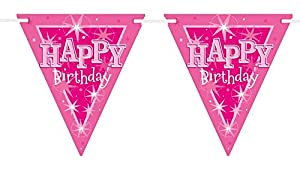 Pioneer Europe- Pancarta de fiesta, Color rosa (45574)