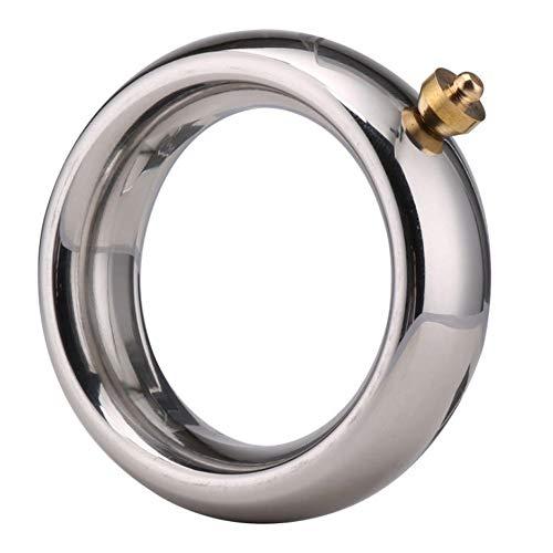 Bereichern Behandlung (ZSTY Lock Feiner Ring, elektrische Schock Behandlung Edelstahl Verzögerung Gewicht Ring Puls Stimulation Lock Feine Verzögerung Erwachsenen Schloss feinen Ring,medium45MM)