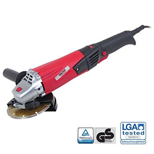 WALTER Werkzeuge LX125-01 Winkelschleifer, 125 mm, 1200 W, 230 V, Rot/Schwarz