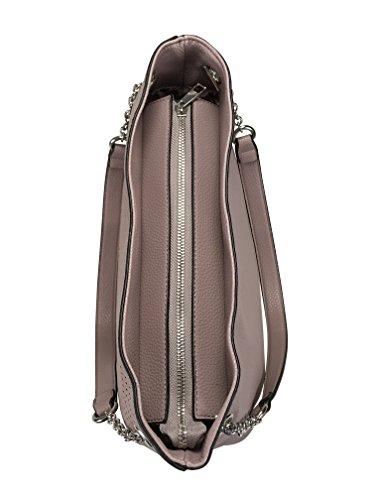 Schulter Handtasche mit modischer Laser Lochung - by collezione alessandro Mauve