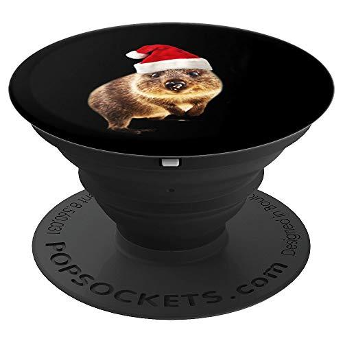 Quokka Weihnachtsmannmütze Geschenk für Quokkas Liebhaber - PopSockets Ausziehbarer Sockel und Griff für Smartphones und Tablets