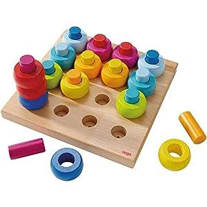 Haba -Juego de piezas apilables de madera de varios colores