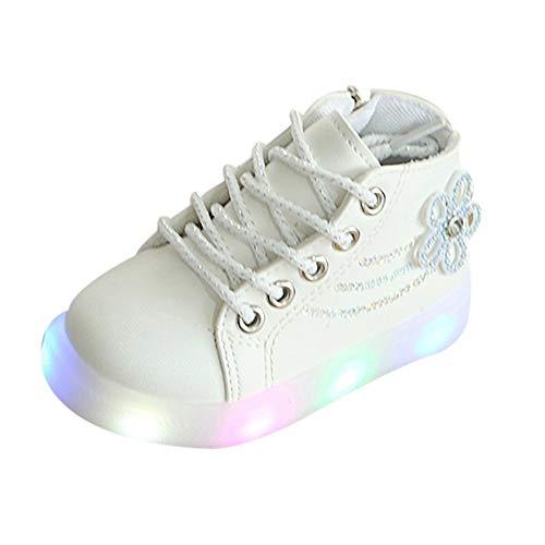 Fannyfuny Kinderschuhe Mädchen Turnschuhe Sneaker Sportschuhe Casual Licht Nette Baby Mädchen Stiefel mit LED Flash beleuchtete Outdoor Cute Prinzessin Schuhe Straßenlaufschuhe Running Schuhe 21-30