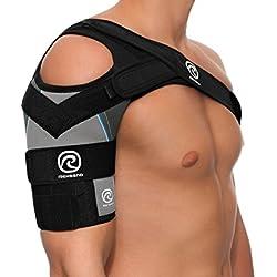 Rehband Bandage Schulterbandage X-Stable rechts, Grau, XL, 7731-52