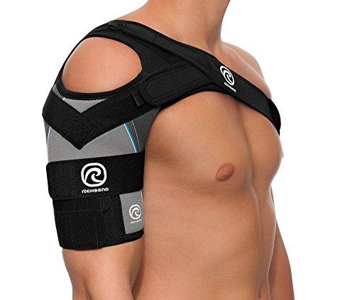 Rehband Bandage Schulterbandage X-Stable links, Grau, L, 7731-41