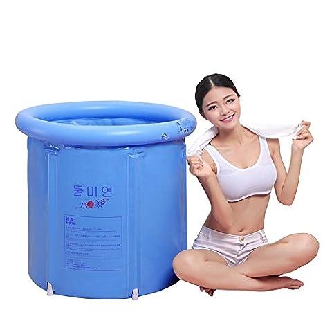 Gonflable Douche - XLHGG Baignoire pliante à PVC gonflable épaissi