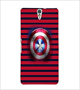 Printdhaba Captain America Shield D-4545 Back Case Cover For Sony Xperia C5 Ultra