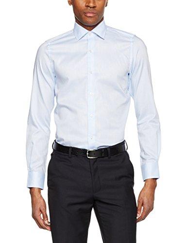 Pierre Cardin Herren Businesshemd Hemd Cannes Natté Blau (Blau 9001)