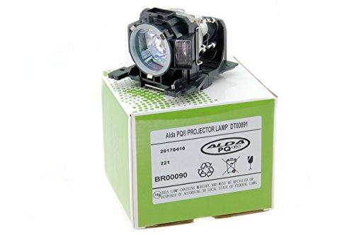Alda PQ-Premium, Beamerlampe / Ersatzlampe kompatibel mit DT00891 für HITACHI CP-A100, CP-A101, ED-A100, CP-A110, HCP-A8, CP-A100J, ED-A100J, ED-A110, ED-A110J Projektoren, Lampe mit Gehäuse