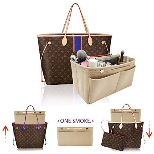 LEXSION Damen Filz-Geldbeutel-organisator, Multi Pocket Bag in Bag Organizer für Tote & Handbag Shaper groß rot - Gucci Messen