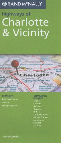 Rand Mcnally Charlotte & Vicinity (Rand McNally Highways Of...) - Nc Karte Charlotte
