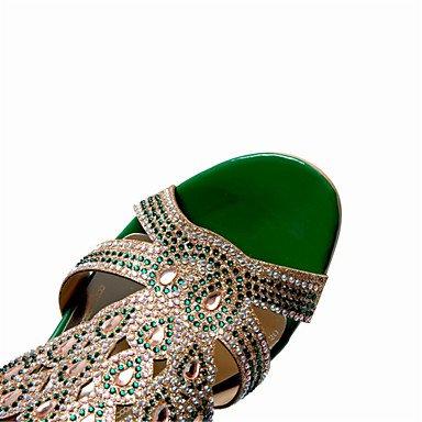 RTRY Donna Sandali Estivi Scarpe Club Glitter Materiale Personalizzato Party Di Nozze & Abito Da Sera Chunky Tacco Frizzante Di Strass US6 / EU36 / UK4 / CN36