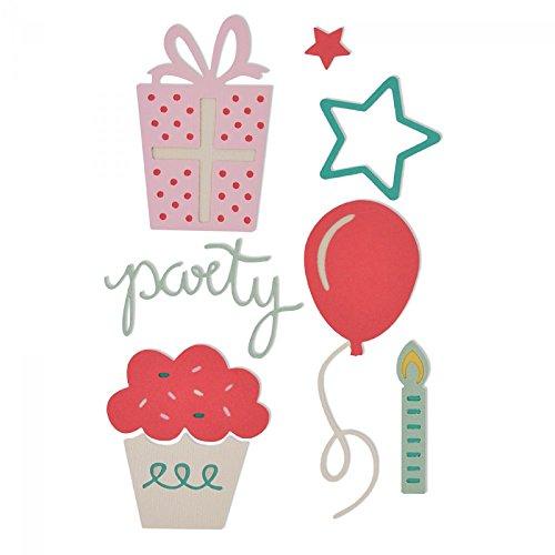 "'Sizzix ""party set by My life Handmade"" Thinlits, multicolore, confezione da 9"