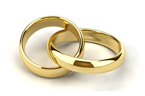 Gioielleria gold gala coppia fedine in argento 925% dorato incisione gratuita anelli made in italy