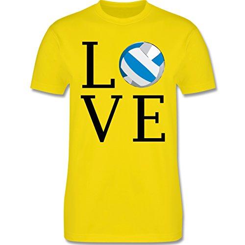 Volleyball - Love Volleyball - Herren Premium T-Shirt Lemon Gelb