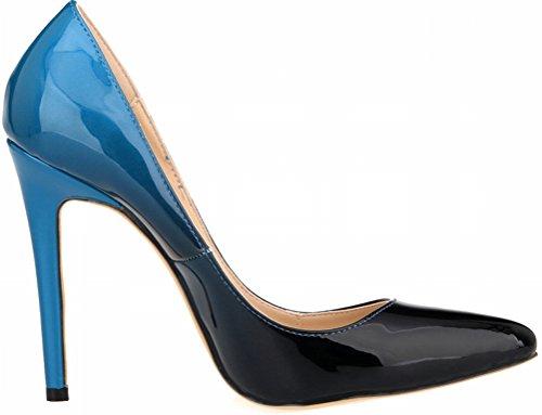 Salabobo , Sandales Compensées femme Bleu