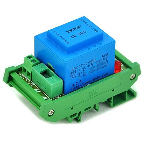 electronics-salon P 230VAC, S 24VAC, 5VA DIN Rail Mount Power Transformer Module, d-1005t/M, AC24V -