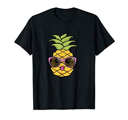 Ananas Kuss Aloha Hawaii Süßes Pineapple Shirt Sonnenbrille