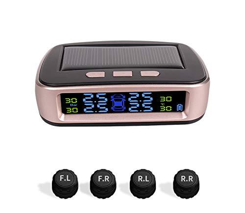 Moniteur LCD sans Fil Solaire Tpms Couleur LCD capteur Externe Pression des pneus de Voiture TPMS