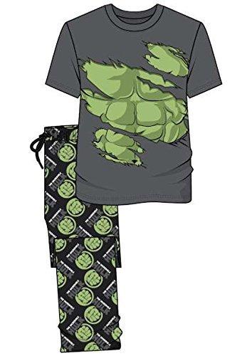 Image of Mens - Marvel The Hulk Novelty Pyjama Set[Medium][Green]