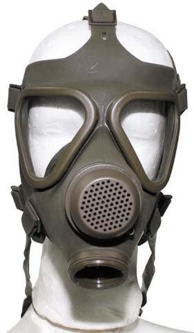 BW Schutzmaske, oliv, o. Filt. gebr., (VERKAUF NUR IN EU)