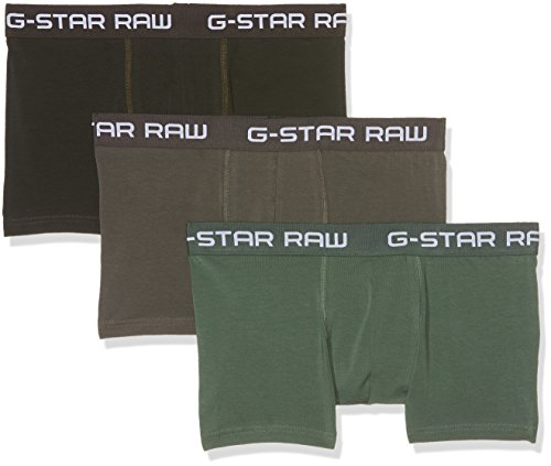 G-STAR RAW Herren Classic Trunk CLR 3 Pack Shorts, Mehrfarbig (Gs Grey/Asfalt/Bright Jun 8529), X-Small