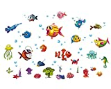 Best Decals for the Wall Teen Books For Girls - homker Underwater World Wall Stickers Peel and Stick Review