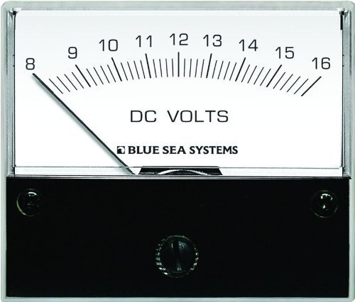 Blue Sea Systems 8003DC Analog Voltmeter by ACR Electronics Blue Sea 8003 Voltmeter