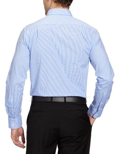 Seidensticker Herren Businesshemd 183300 Mehrfarbig (14 Karo blau)