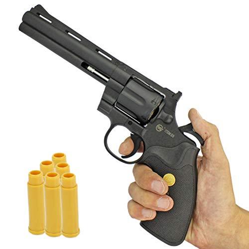 Softair Revolver Airsoft Pistole + Munition | G3-6B | 30cm. Inkl. Magazin & 0,5 Joule | + Ersatzhülsen
