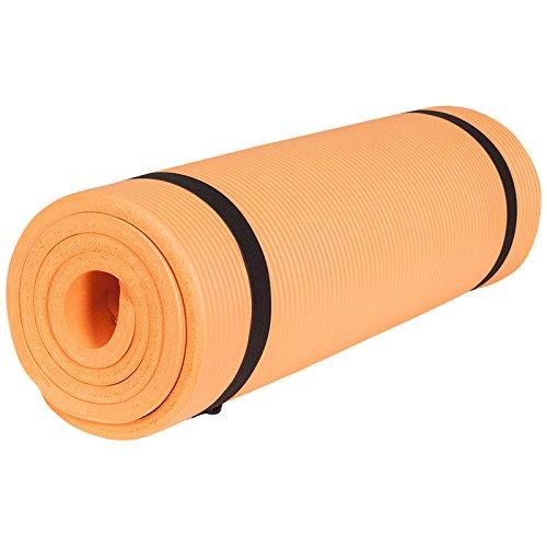 Gorilla Sports Yogamatte in verschiedenen Farben und Größen, Orange, 190 x 60 x 1.5 cm, 10000541;507