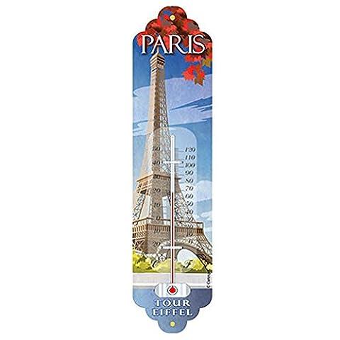 Souvenirs de France - Thermomètre Mural Métal Paris 'Tour Eiffel'