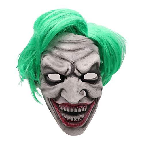 Horror Clown Maske Halloween Latex Kopfmaske mit Haaren - Perfekt für Fasching, Karneval & Halloween - Kostüm für Erwachsene - Latex, Unisex Einheitsgröße (Erwachsene 2019 Halloween-kostüm Für)