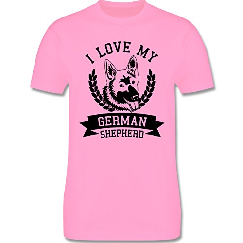 Hunde - I love my German Shepherd - Herren Premium T-Shirt Rosa